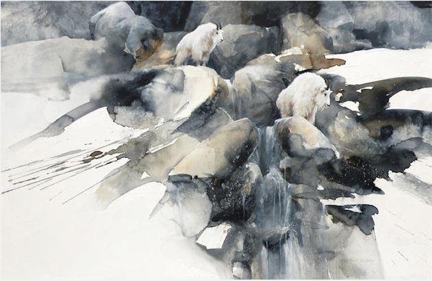 Morten E. Solberg. Животные акварелью. Spring Thaw