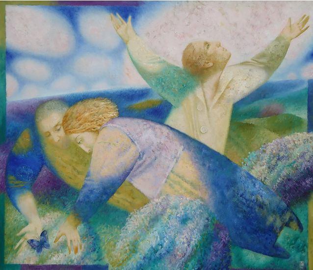 Павел Антипов и его философские картины. Ловец образов. 130х150. Холст, масло 2010