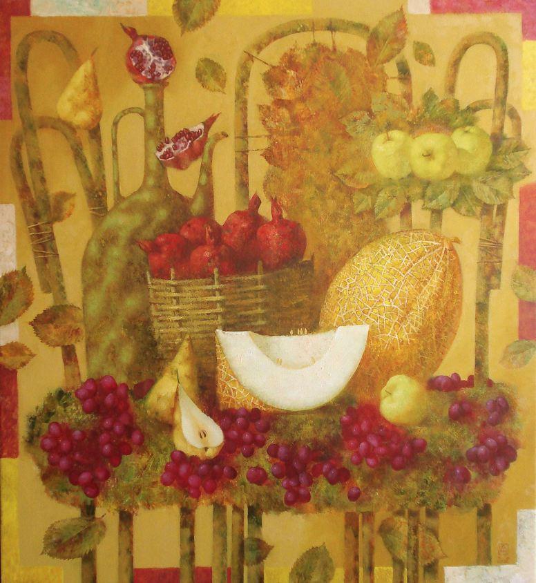 Павел Антипов и его философские картины. Осень. 120х110. Холст, масло 2008
