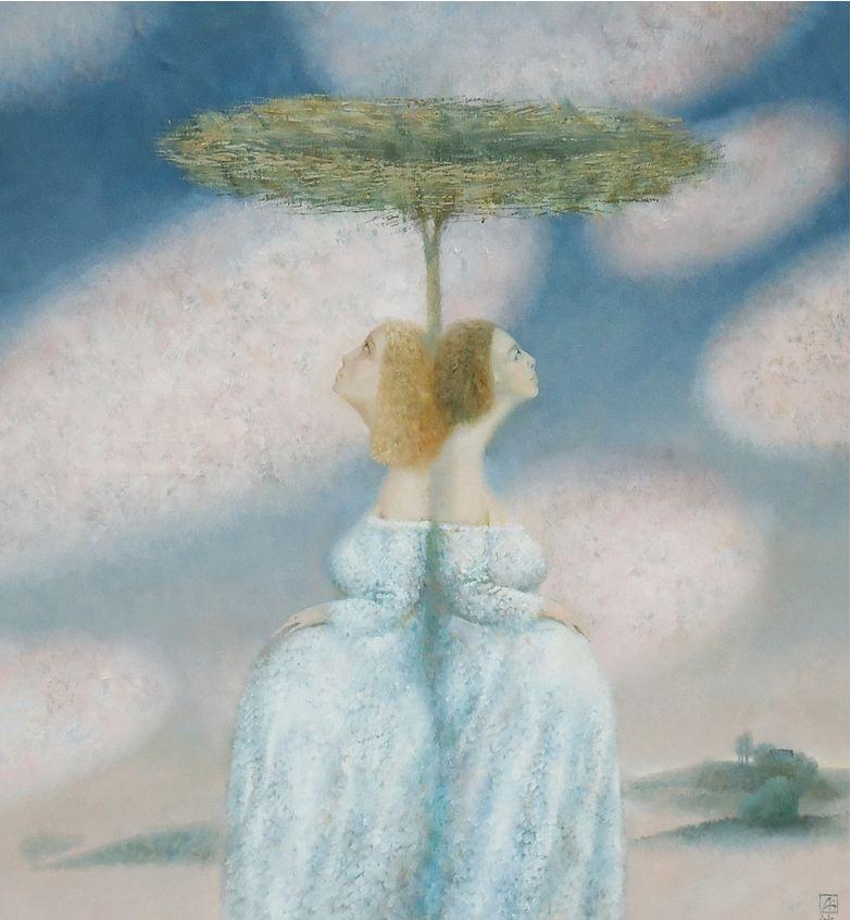 Павел Антипов и его философские картины. Ожидание. 100х105 Холст, масло 2010