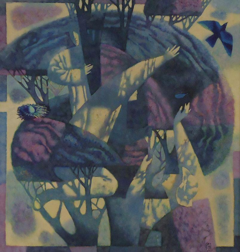 Павел Антипов и его философские картины. Синяя птица. 80х90 Холст, масло 2010