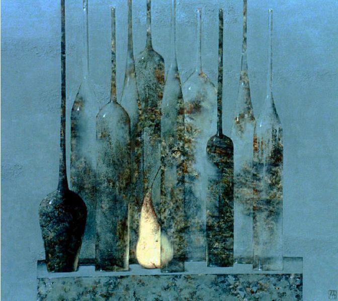 Павел Антипов и его философские картины. Туман. 100х105. Холст, масло 2002