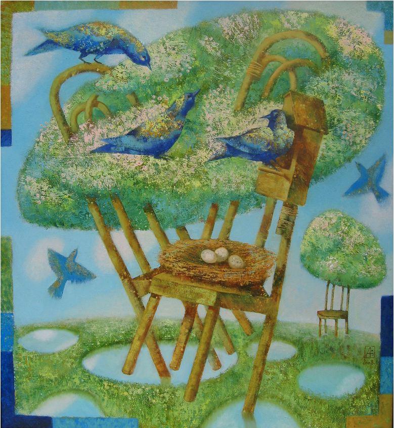 Павел Антипов и его философские картины. Весна. 120х110 Холст, масло 2008