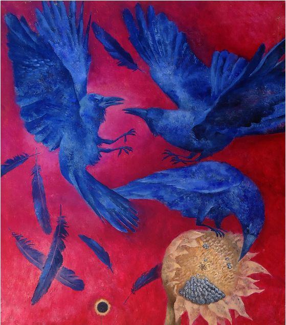 Павел Антипов и его философские картины. Затмение. 85х75. Холст, масло 2012