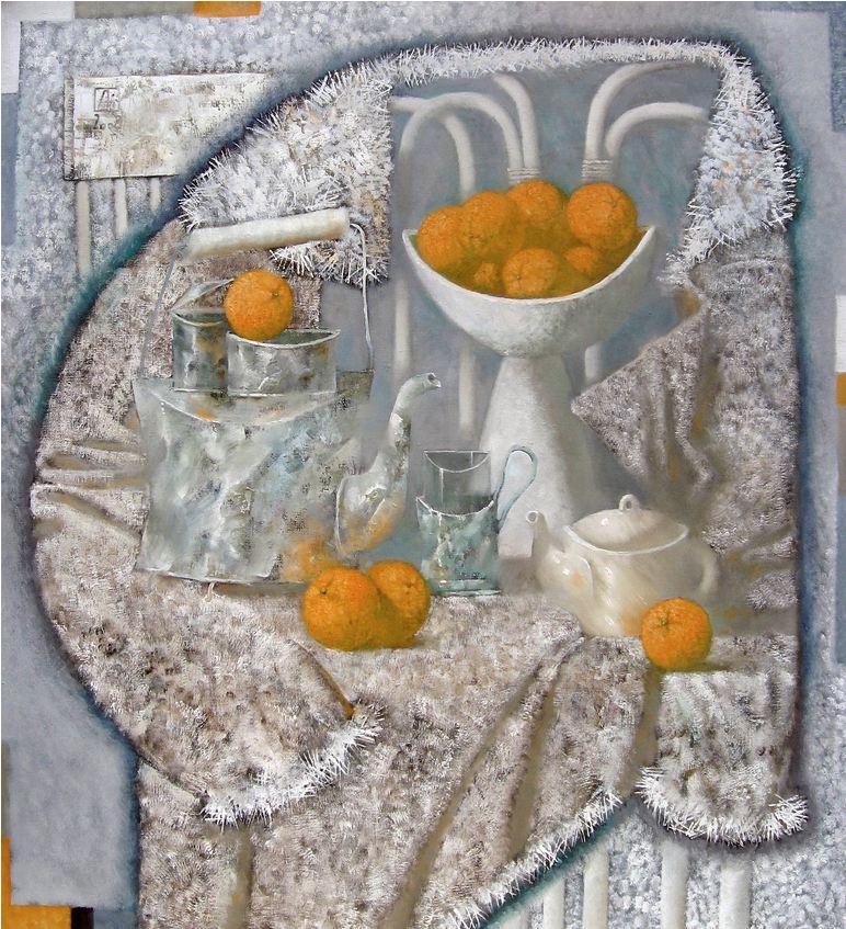 Павел Антипов и его философские картины. Зима. 120х110 Холст, масло 2008