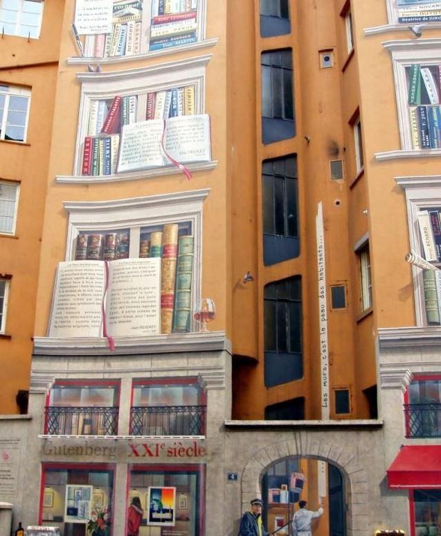 Расписные дома. Картины на стенах. Неизвестный город. Роспись шестая