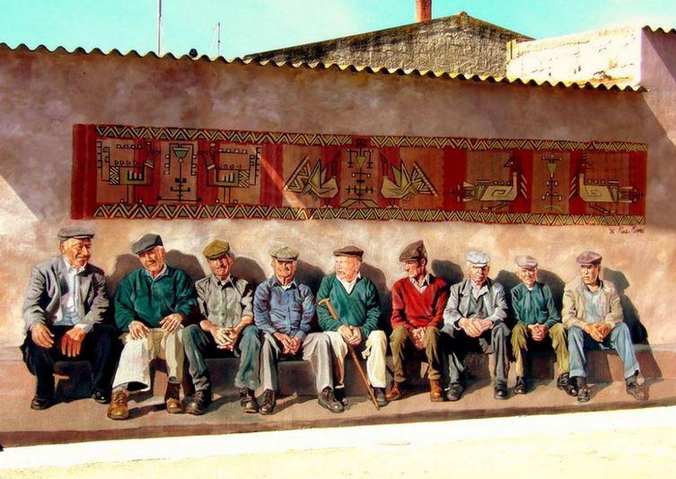 Расписные дома. Картины на стенах. Вторая роспись в городке Cheremule. Сардиния