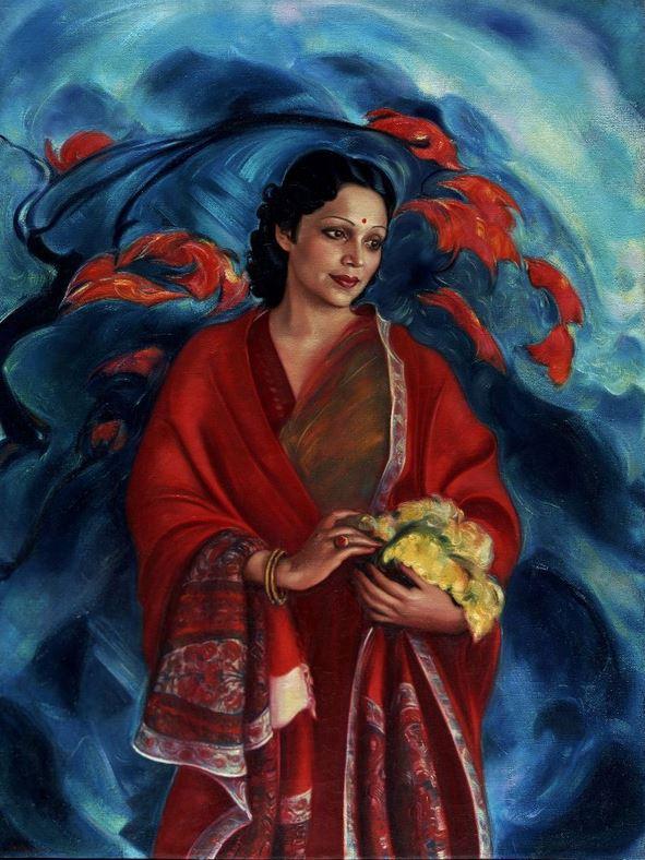 Святослав Рерих. Духовное искусство. Девика Рани Рерих. 1951