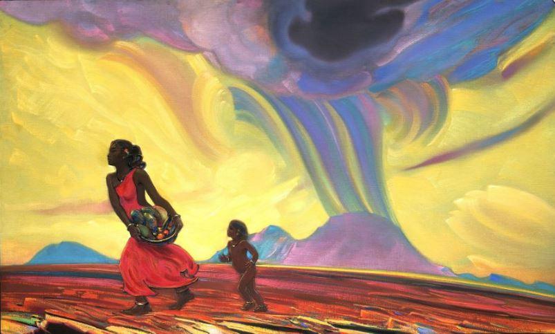 Святослав Рерих. Духовное искусство. Красная земля. 1953
