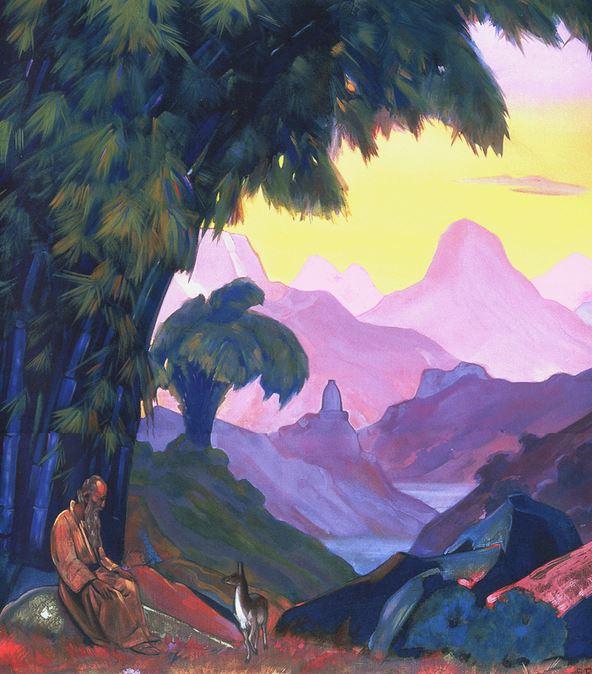 Святослав Рерих. Духовное искусство. Куда идешь, брат мой... 137х122 Холст, темпера. 1938