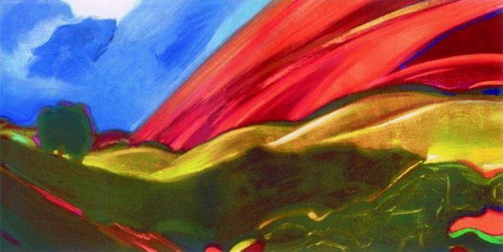 Святослав Рерих. Духовное искусство. Пейзаж. 40х45 Дерево, масло