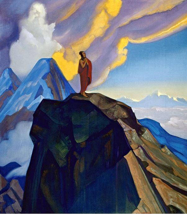 Святослав Рерих. Духовное искусство. Подвиг. 137х122 Холст, темпера. 1938