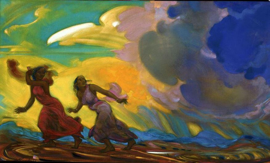 Святослав Рерих. Духовное искусство. Спасаясь от бури