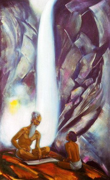 Святослав Рерих. Духовное искусство. Священные слова. 153х92 Холст, темпера 1944