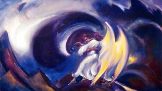 Святослав Рерих. Духовное искусство. Яков с ангелом. 90х148 Холст, темпера. 1940