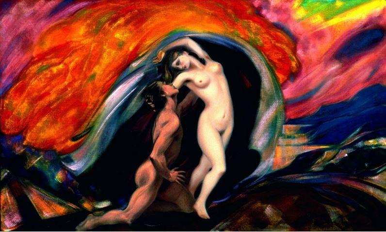 Святослав Рерих. Духовное искусство. Юноша и девушка