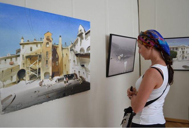 Выставка Александра Шумцова. Дабы иметь представление о размере