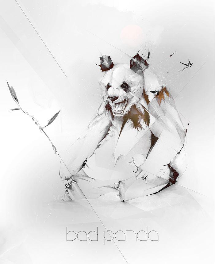 Alexis Marcou. Рекламная графика. Bad Panda