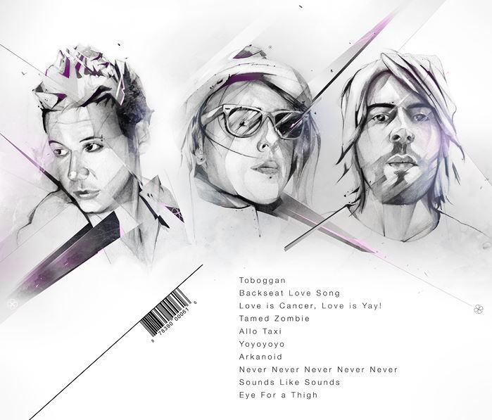Alexis Marcou. Рекламная графика. CD альбом Backseat Love Songs. Обратная сторона обложки