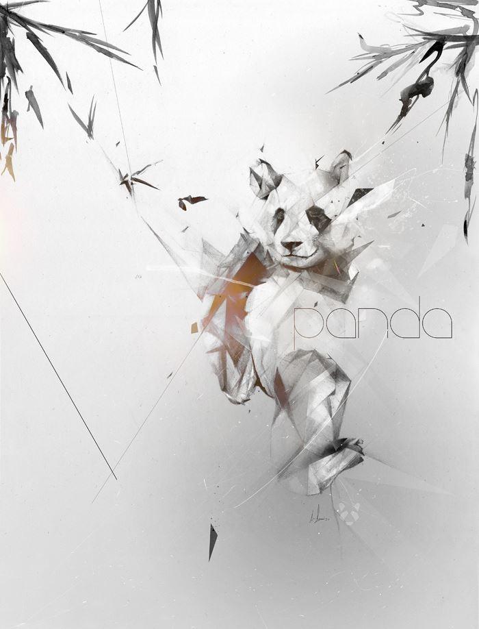 Alexis Marcou. Рекламная графика. Panda