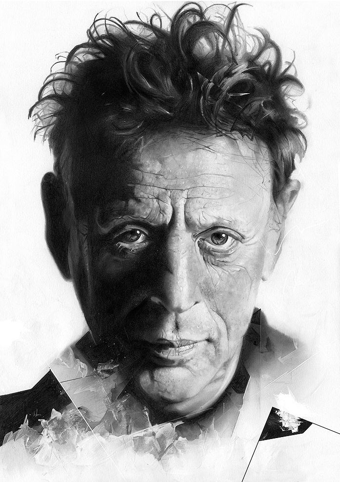 Alexis Marcou. Рекламная графика. Журнал Nilon. Philip Glass