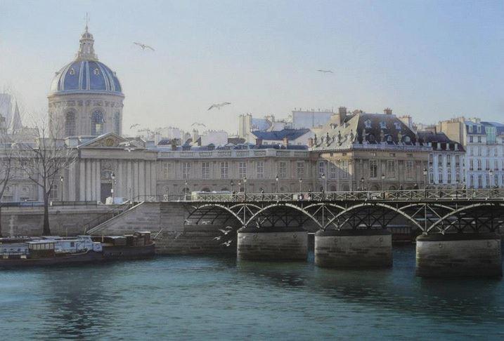 IWS 2012. 10 место. Thierry Duval. L'Académie française et la Passerelle des Arts. 80×53