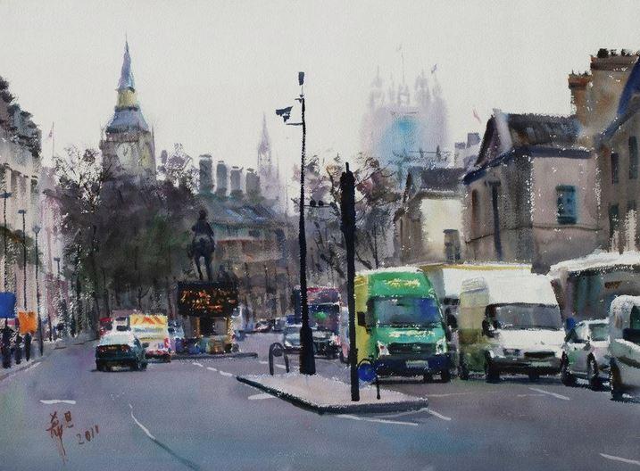 IWS 2012. 5 место. Xidan Chen. London Streets. 56×76