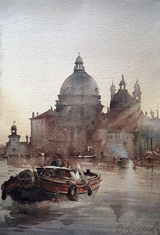 IWS 2012. Dusan Djukaric. Santa Maria della Salute. 38x56