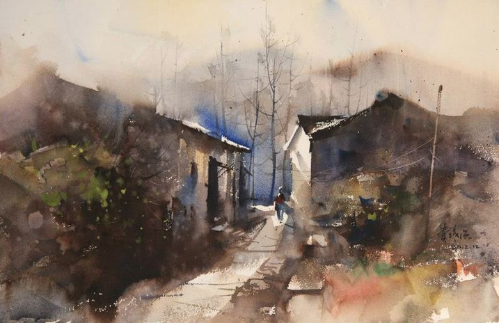 IWS 2012. Fei Xiqiang. The life of autumn in the mountain. 55х36