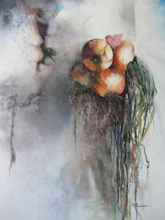 IWS 2012. Isabelle Fournier. Perdrix Les oignons sèchent... 50х65