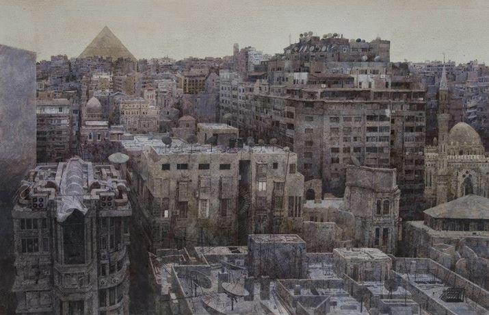 IWS 2012. Li Yichun. Midnight Cairo. 105х75