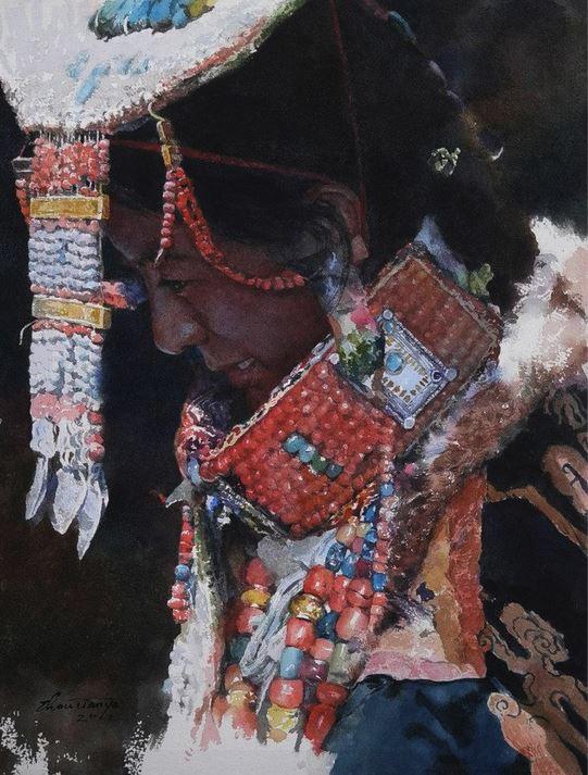 IWS 2012. Zhou Tianya. Tibetan Bride. 41X31