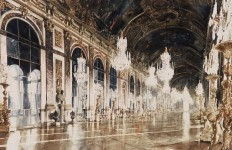 Архитектор-акварелист Paul Dmoch. Galerie des Glaces, Versailles