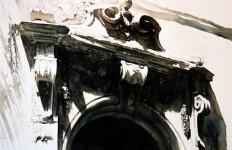 Архитектор-акварелист Paul Dmoch. Portail - Via dei Servi, Florence