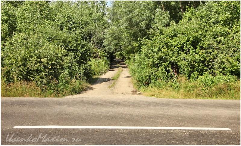 Дорога к озеру. Вид с дороги на Галкино