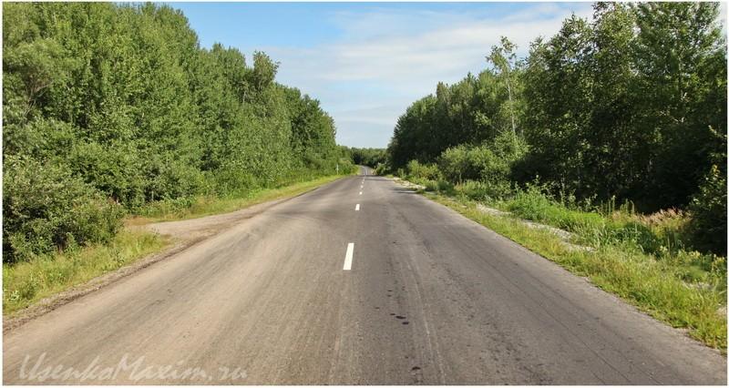 Дорога на Галкино. Влево уходит дорога на озеро