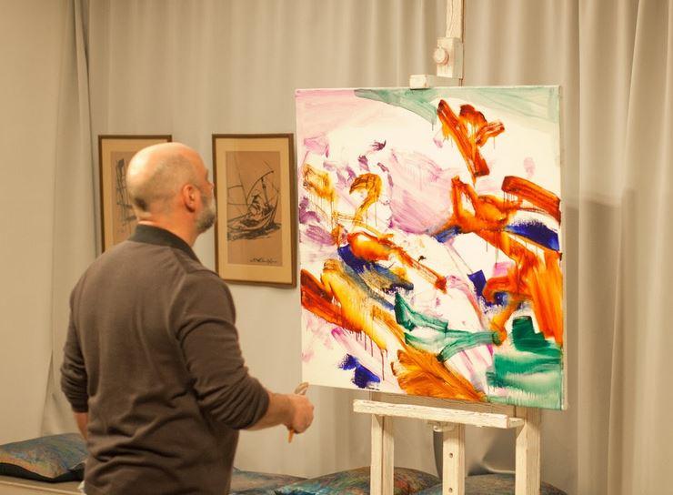 Валерий Блохин за работой