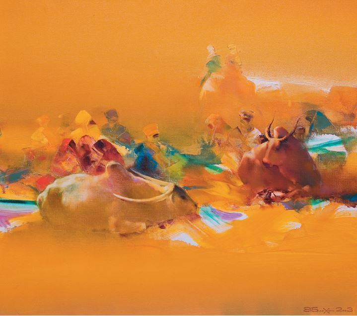 Валерий Блохин. Яркая живопись на грани абстракции. Аравия. 80х90 холст масло