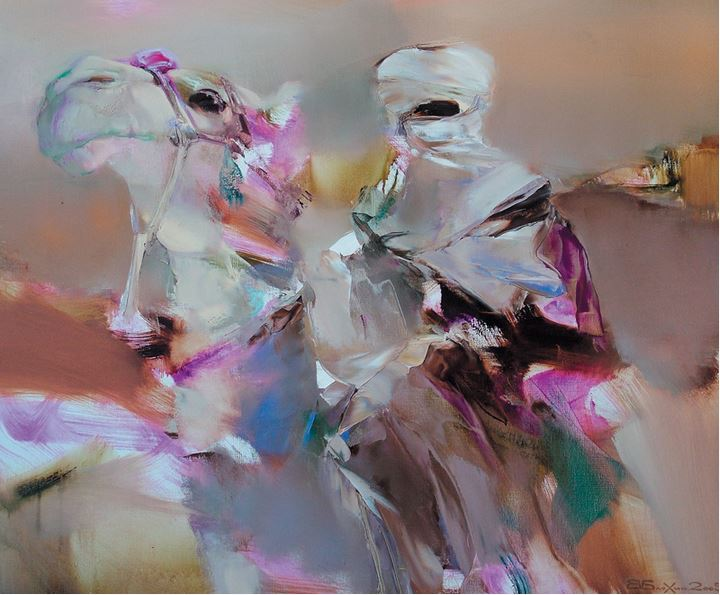 Валерий Блохин. Яркая живопись на грани абстракции. Бедуин. 100х120 холст масло