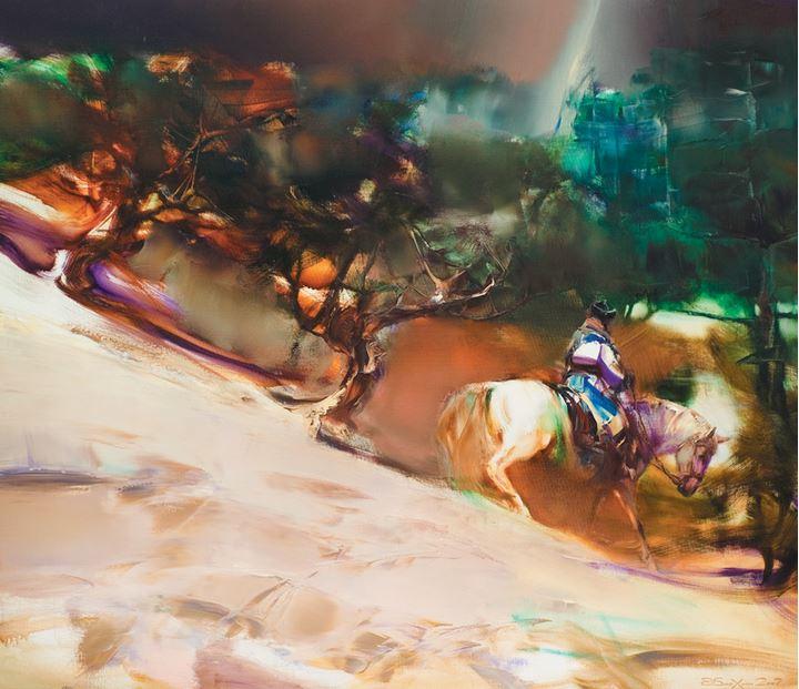 Валерий Блохин. Яркая живопись на грани абстракции. Гроза. 130х150 холст масло