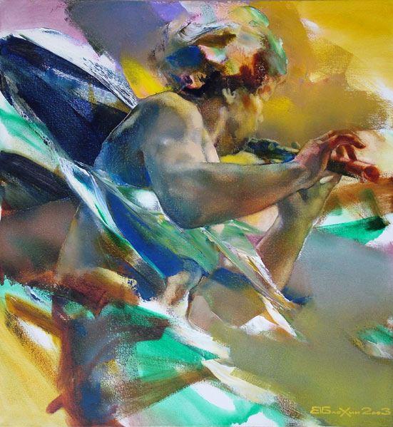 Валерий Блохин. Яркая живопись на грани абстракции. Картина вторая