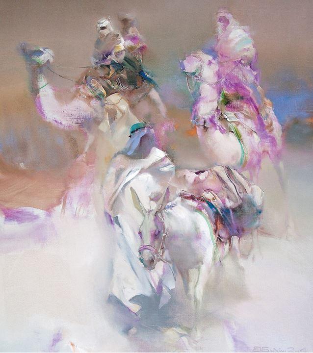 Валерий Блохин. Яркая живопись на грани абстракции. Палестина. 90х80 холст масло