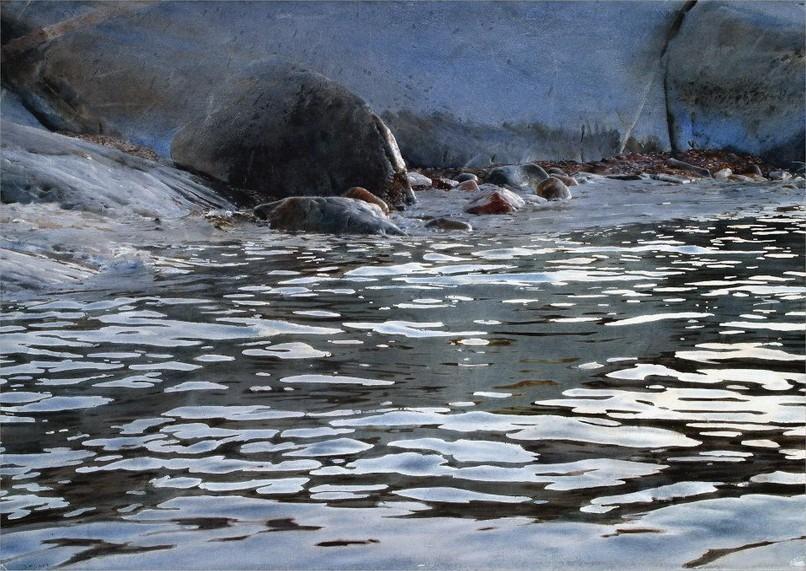 Stanislaw Zoladz. Гиперреализм. Вода акварелью. Акварель шестнадцатая