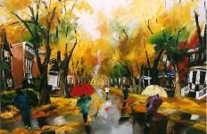 Канадский художник Albini Leblanc. Миниатюры мастихином. Четырнадцатая