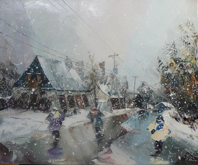 Канадский художник Albini Leblanc. Миниатюры мастихином. Одинадцатая