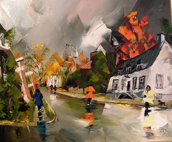 Канадский художник Albini Leblanc. Миниатюры мастихином. Первая