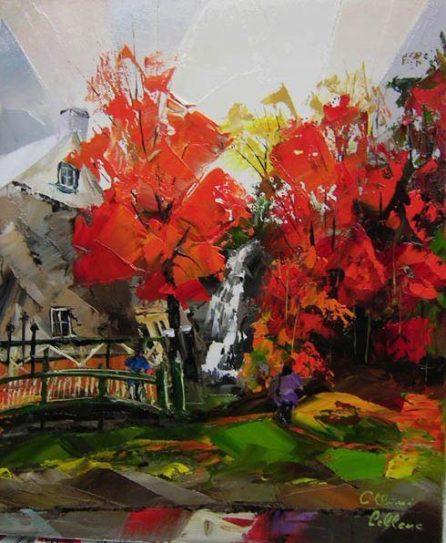 Канадский художник Albini Leblanc. Миниатюры мастихином. Семнадцатая